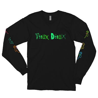Vieux Dieux Doll Front/Back,Sleeve Long Sleeve Tee