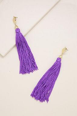 Tassel Earrings in Purple and Gold