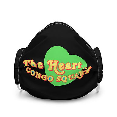 Green Heart Of Congo Square Face Mask
