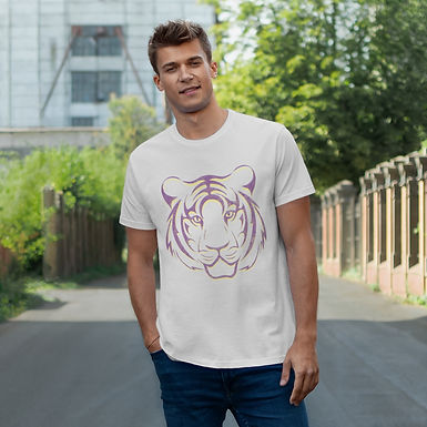 Tiger Outline College Tee