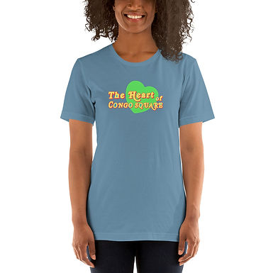 The Green Heart Of Congo Square Text Tee