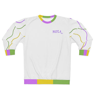 Mardi Gras Beads  Sweatshirt