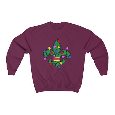 Christmas Fleur De Lis Sweatshirt