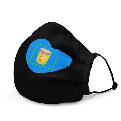 Blue Congo Heart Face Mask
