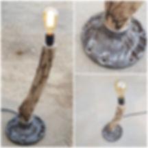 מנורת רצפה מעוצבת עץ בשילוב ברזל