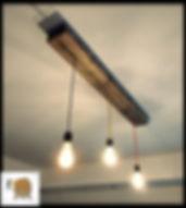 מנורת תקרה מקורת עץ טבעי