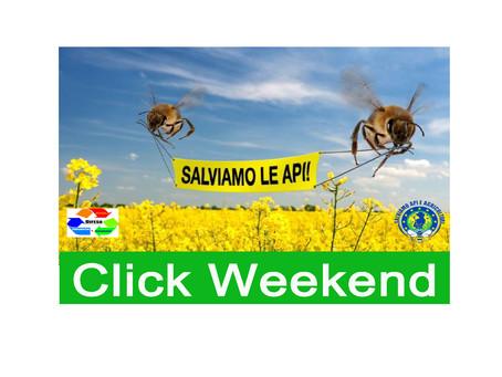 """COMUNICATO STAMPA: """"Click Weekend"""" per Salvare la Biodiversità e le Api. in Italia ed on-line"""