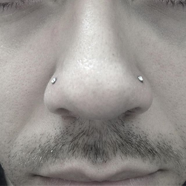 Double Nostril Piercings