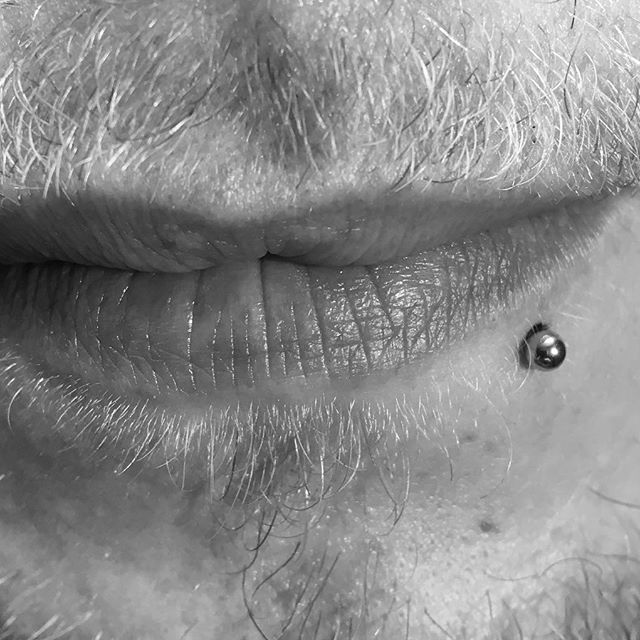Side Labret Piercing