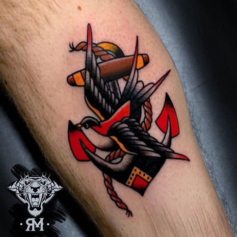 Traditional Anchor & Swallow