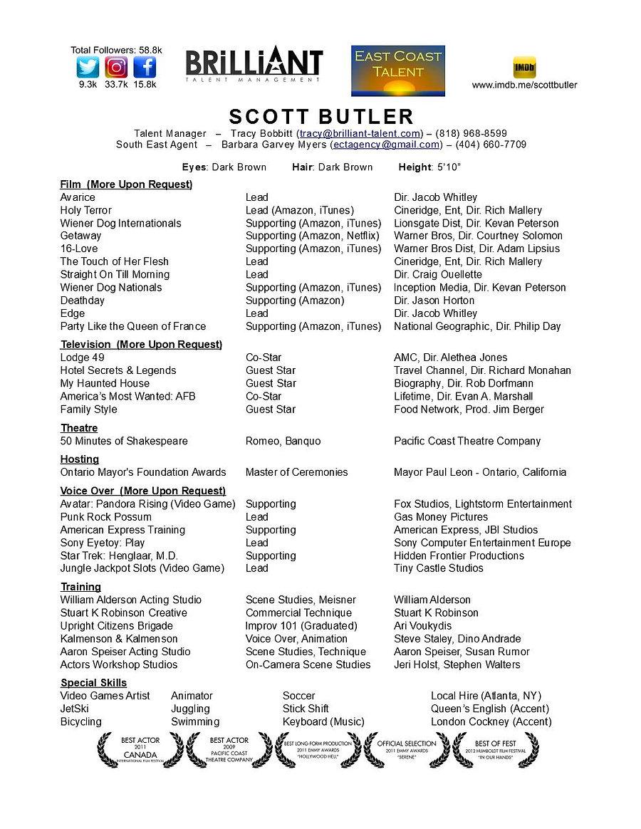 ScottButler_TheatricalResume (Agent - SA
