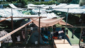 View of camp after two weeks. While others choose to relocate to Athens or return to Moria roughly 300 people chose to remain on the grounds due to safety concerns.