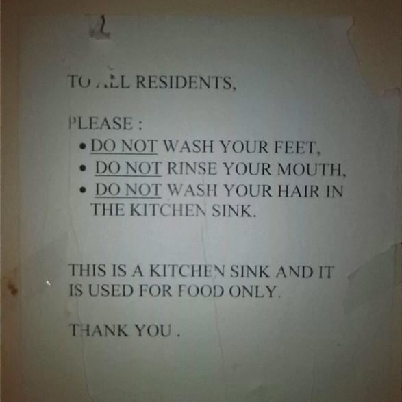 Hostel Warnings