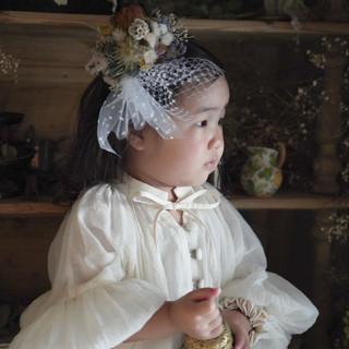 お子様の髪飾りや花冠の制作も可能です。