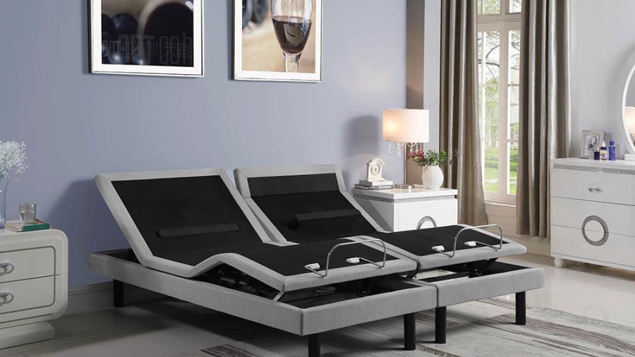 Ashbrook Twin Extra Long Adjustable Bed Base Grey
