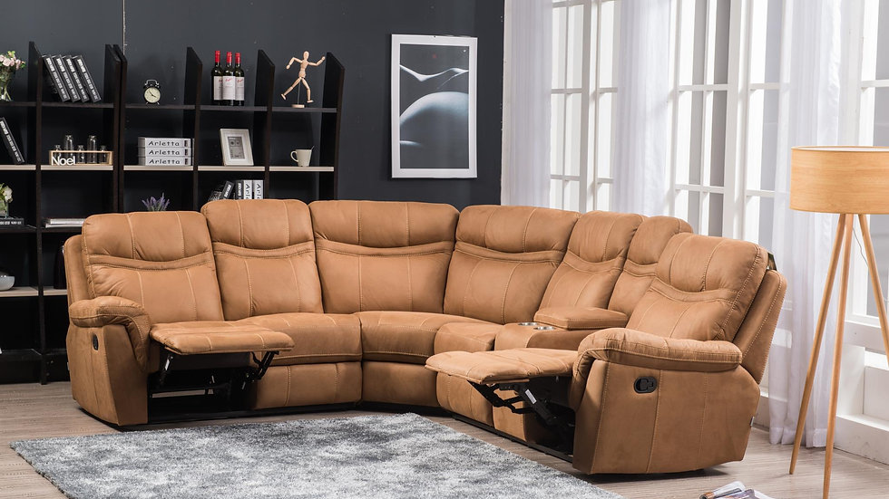 Motion Sectional in Tan