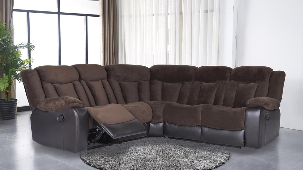 Motion Sectional in Brown
