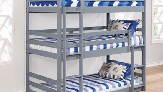 Sandler Three-Bed Bunk Bed Grey