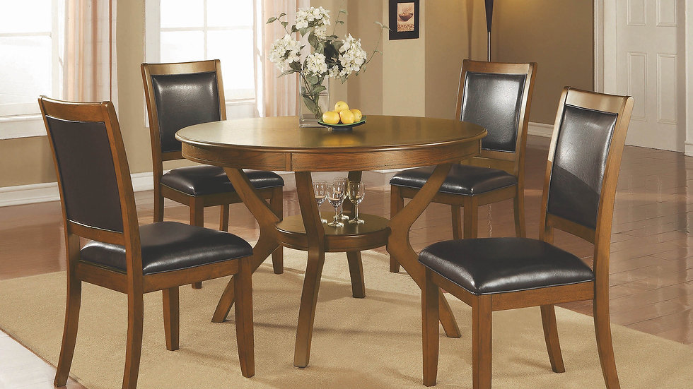 Nelms Casual Deep Brown Dining Table Collection: Nelms
