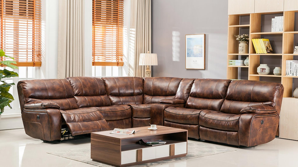Stone Brown Motion Sectional