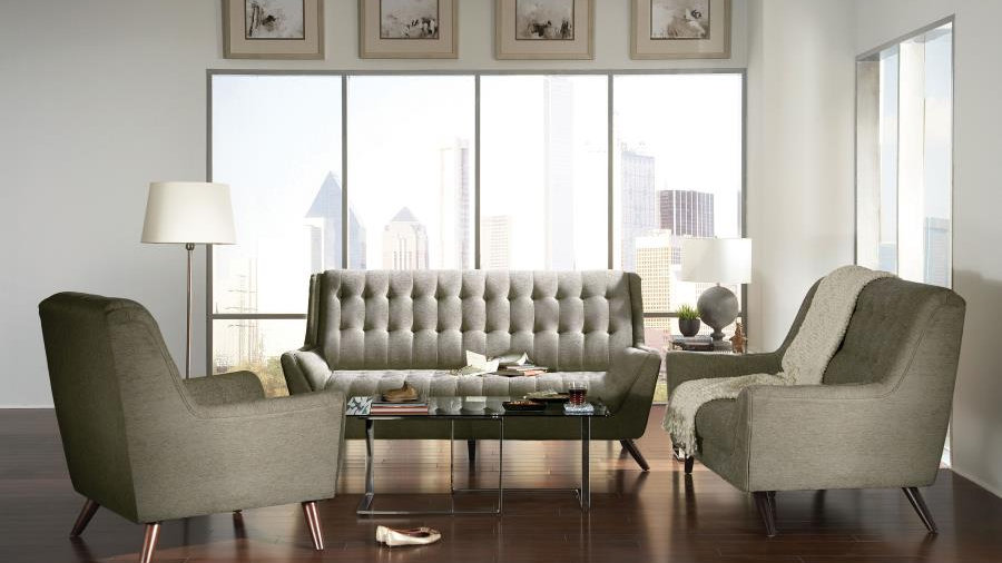 Natalia Sofa in Dove Grey Fabric