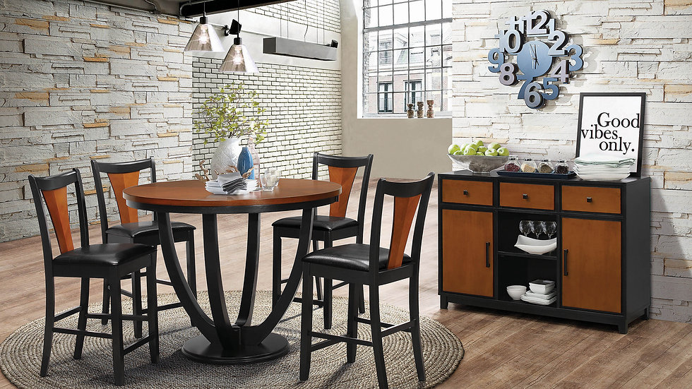 Boyer Transitional Amber Dining Set of 5