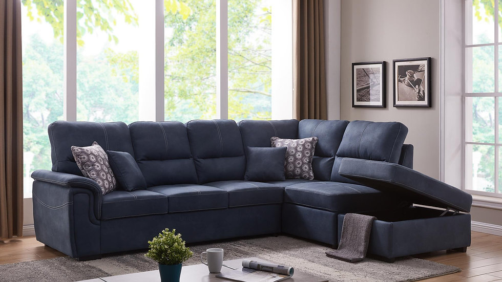 Sectional in Blue