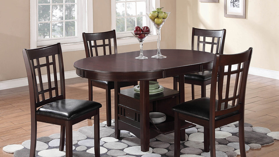 Lavon Transitional Warm Brown Dining Chairs