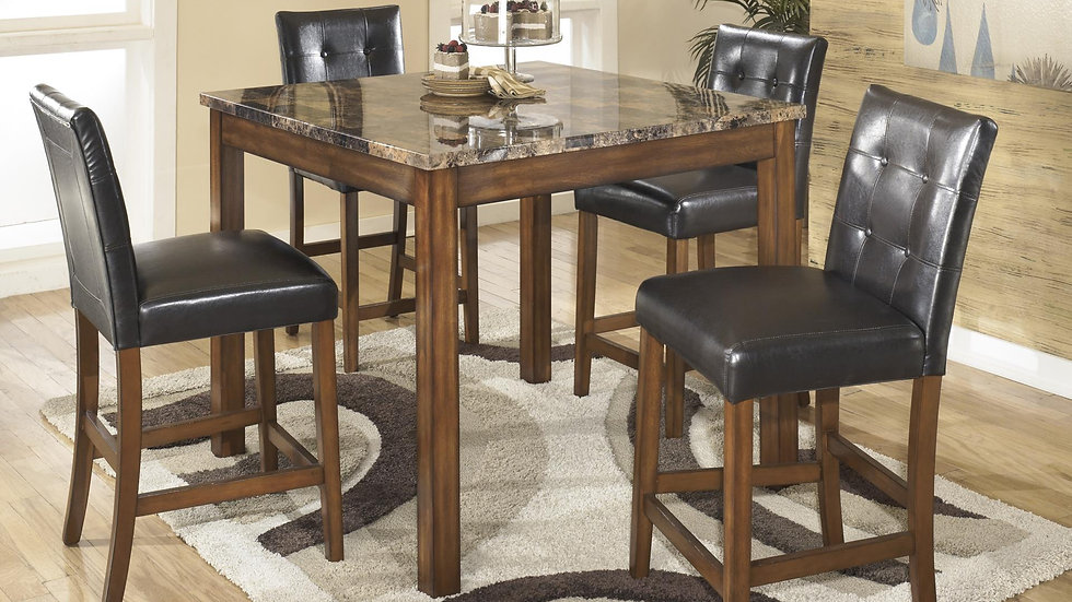 5 Pc Square Counter Table Set