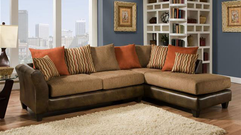 Fabric & Leather Sectional