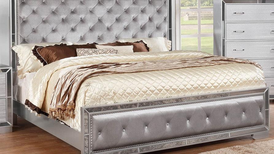 Pandora Silver Queen Bed