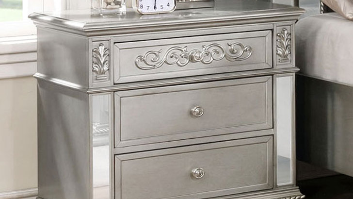 Silver Haven Nightstand