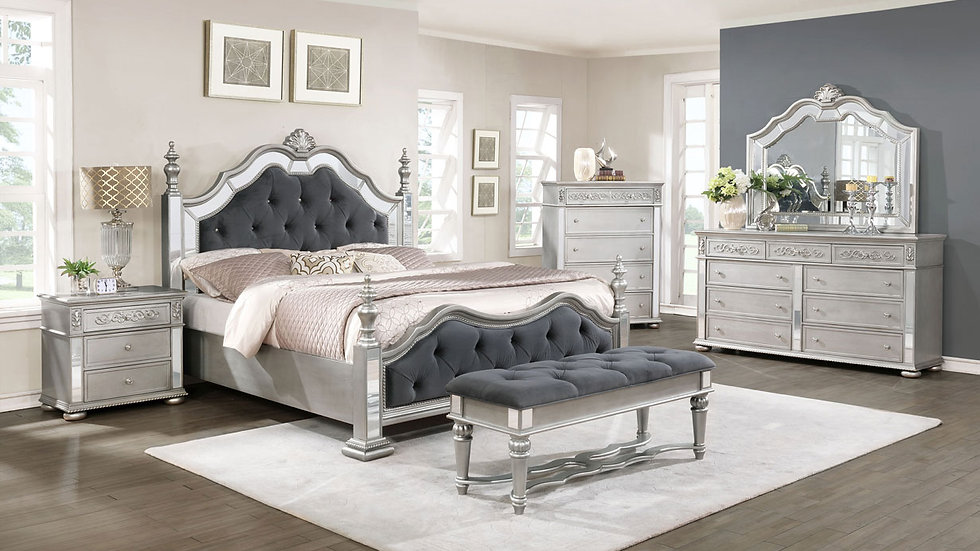 Silver Haven Queen Bed