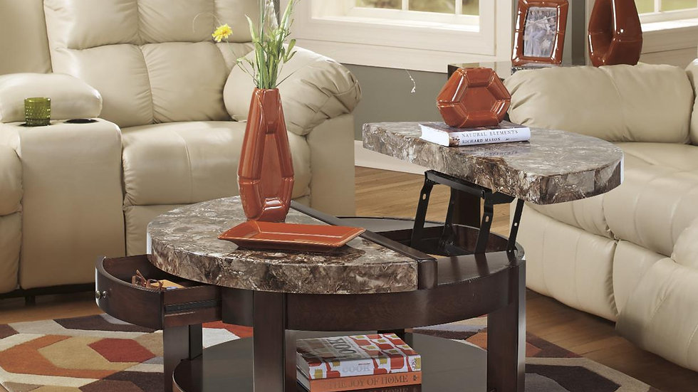 Round Flip-top Coffee Table