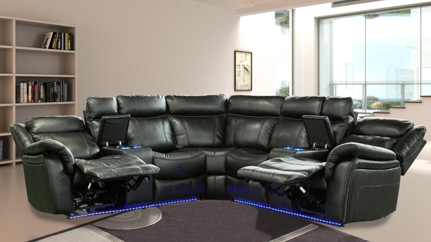 Powered Motion Sectional in Black