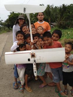 SkyEye drone with kids