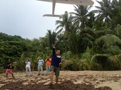 SkyEye team flying a drone