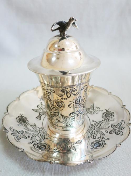 A traditional Iraqi kiddush cup