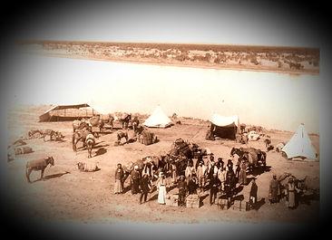 שיירה על חוף נהר הפרת