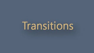 Transitions - our new exhibition!