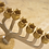 Thumbnail: חנוכיה עם קנים בצבע זהב