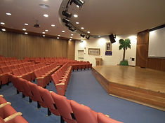 The auditorium at the Babylonian Jewry Heritage Center