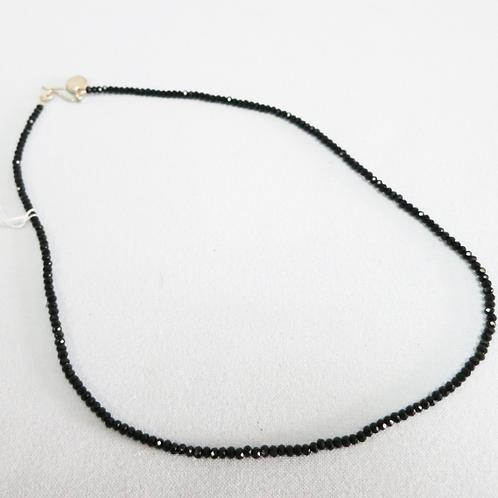 Black Czech bead