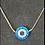Thumbnail: צמיד כסף 925 בשילוב  חרוז עין