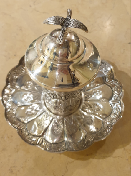 Traditional Kiddush cup of pure silver