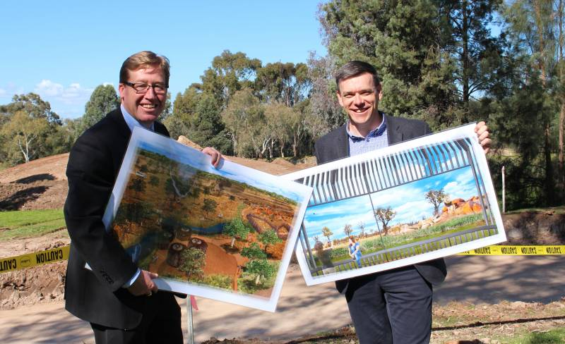 TWPZ Director Matt Fuller and the Hon. Troy Grant: Image Courtesy of Taronga Zoo