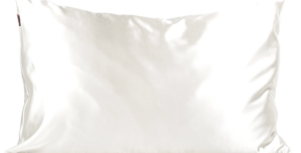 KITSCH-SATIN PILLOW CASE- IVORY STANDARD SIZE
