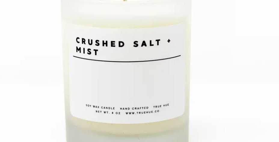 True Hue- Crushed Salt Mist Candle