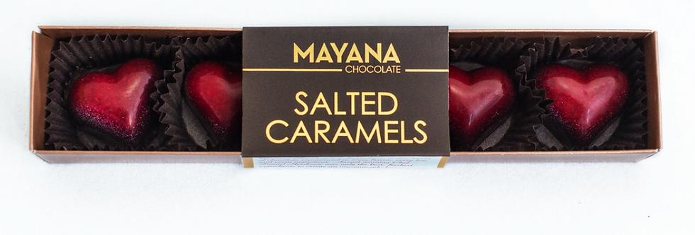 MAYANA CHOCOLATE- SALTED CARAMELS HEART SHAPE