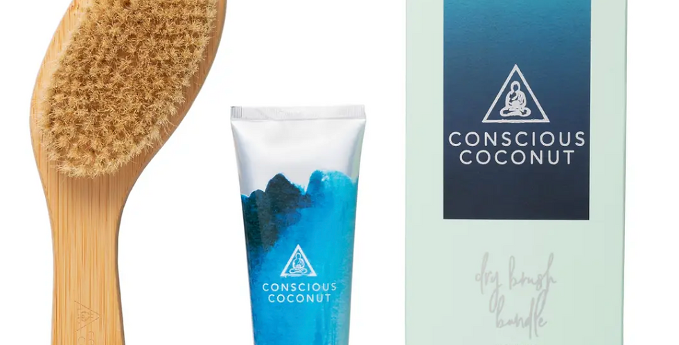 Conscious Coconut- Dry Brush Travel Set